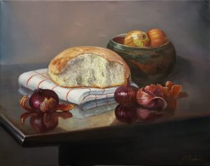 Kaimiškas natiurmortas (Rural Still Life). 50x40 cm. Aliejus/drobė (Oil on canvas). 190 Eur
