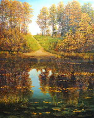 Kai atėjo ruduo (When Autumn Came). 80x100 cm. Aliejus/drobė (Oil on canvas). 900 Eur. American Art Awards 2018 - 4th place