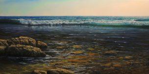 Pasisveikinimas su jūra (Greet the Sea), 140x70 cm, parduotas (sold)