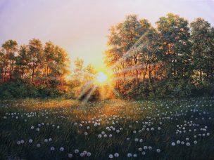 Pasakų pieva (Fairy Meadow). 80x60 cm, parduodas (sold)