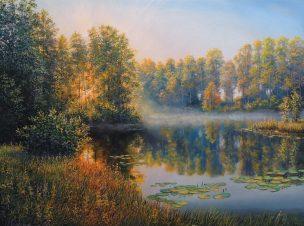 Ankstyvas rytas (Early Morning). 80x60 cm, aliejus ant drobės (oil on canvas). Parduotas (sold)