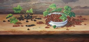 Serbentai (Currants). 80x40 cm. Parduodas (Sold)