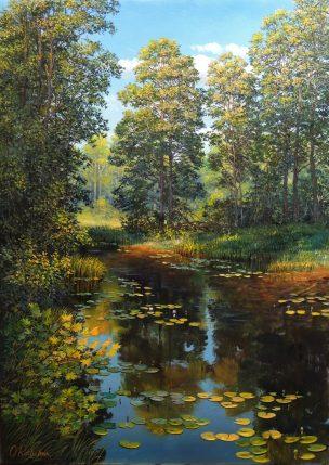 Vasarą prisimenant (Remembering Summer), 50x70 cm, parduotas (sold)