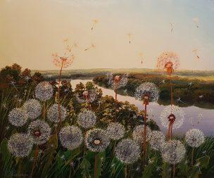 Upės kranto pasakos (Tales From The Riverbank). 60x50 cm. Parduotas (sold)