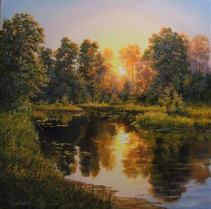 Forest Treasure (Miško lobiai) 50x50 cm, oil, canvas, 2020