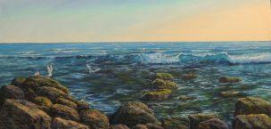 Welcoming the Sun (Saulės pasveikinimas), oil, canvas, 2020